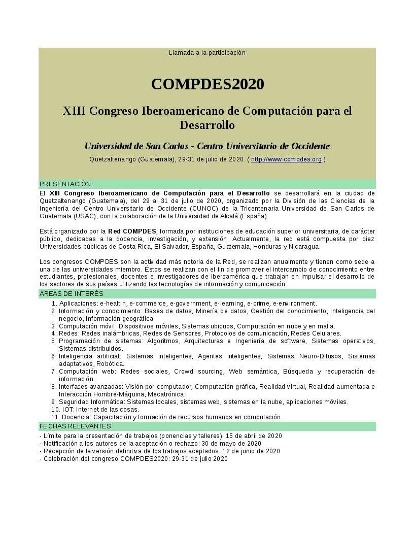 COMPDES 2020